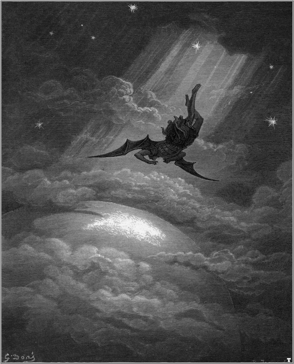 "Paul Gustave Dore - ""The Fall of Lucifer"" for John Milton's Paradise Lost"