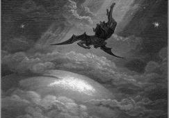 """Paul Gustave Dore - """"The Fall of Lucifer"""" for John Milton's Paradise Lost"""